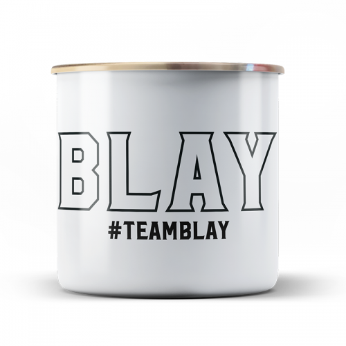 Emaille Tasse TEAMBLAY